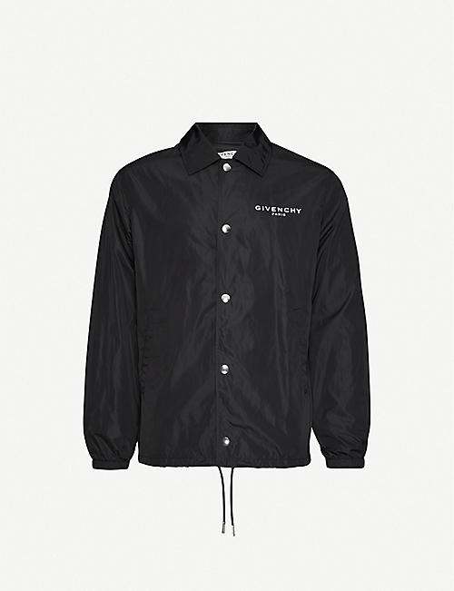 GIVENCHY Logo-print shell jacket
