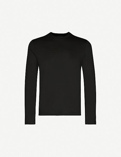 PRADA Crewneck regular-fit cotton-jersey top pack of three