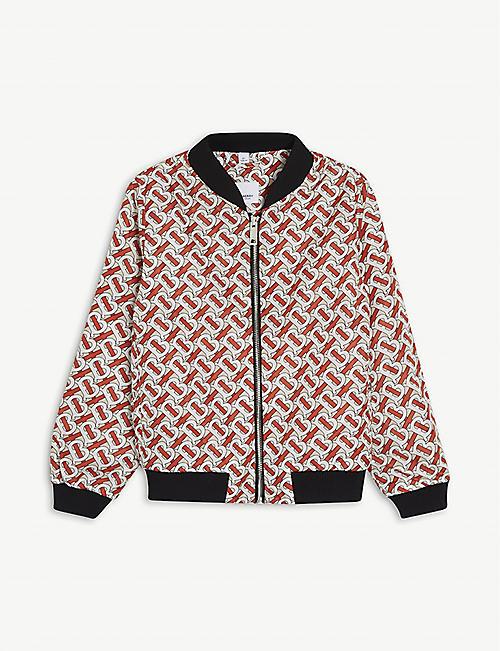BURBERRY Monogram-print bomber jacket 3-14 years