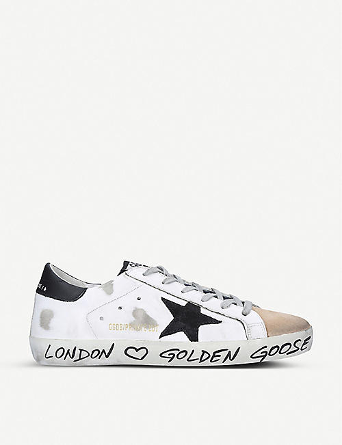 GOLDEN GOOSE Superstar Z14 star-embroidered leather trainers