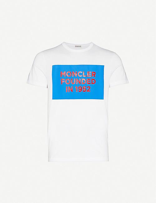 MONCLER Graphic-print cotton-jersey T-shirt