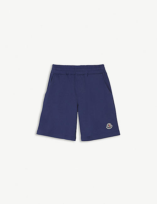 MONCLER Logo-patch cotton shorts 4-14 years