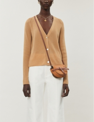Relaxed-fit ribbed cashmere cardigan