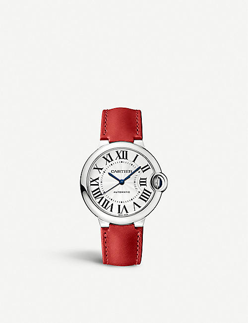 CARTIER CRWSBB0036 Ballon Bleu leather and stainless steel watch