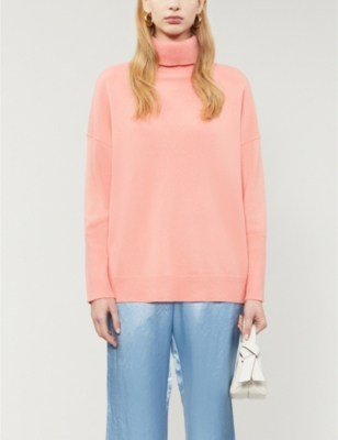 Relaxed-fit turtleneck cashmere jumper