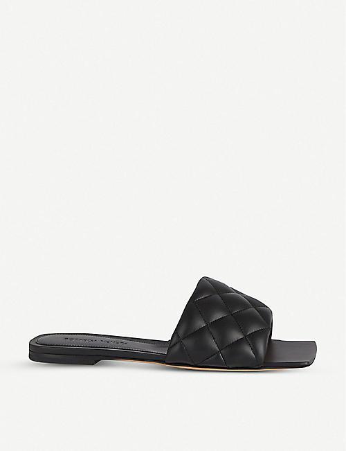 BOTTEGA VENETA 绗缝皮革平凉鞋