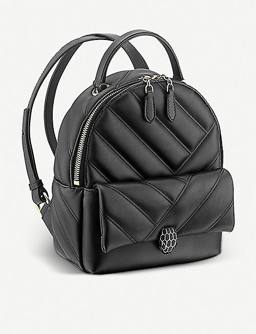 BVLGARI Serpenti Cabochon leather backpack