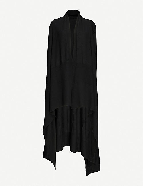 RICK OWENS Waterfall-hem cashmere cardigan