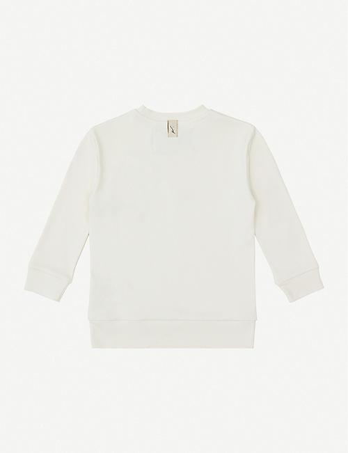 PREVU Logo-embroidered cotton sweatshirt 4-14 years