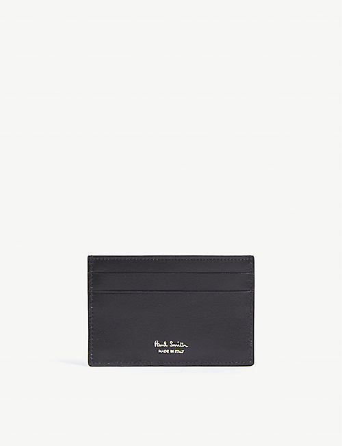 PAUL SMITH ACCESSORIES Photographic Beetle print leather card holder