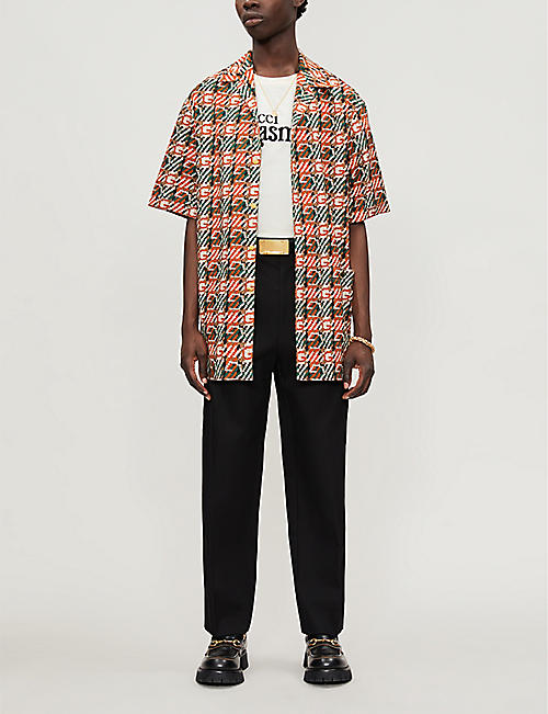 GUCCI Orgasmique-print cotton-jersey T-shirt