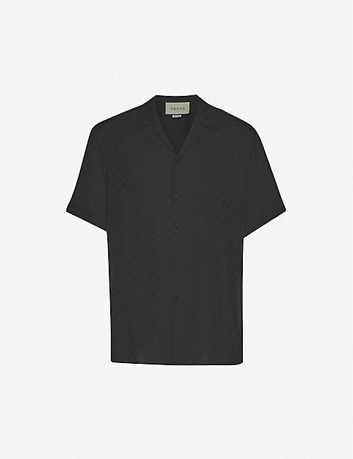 GUCCI Logo-print silk shirt