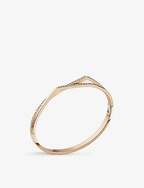 REPOSSI Antifer 18 pink-gold and diamond bracelet
