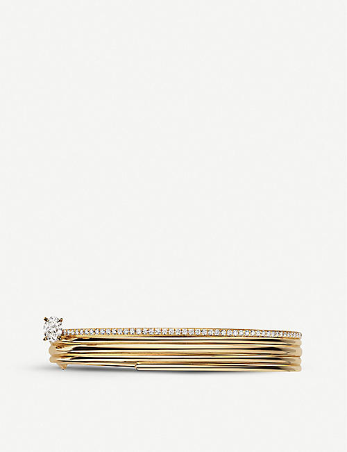 REPOSSI Blast 18ct pink-gold and diamond bracelet