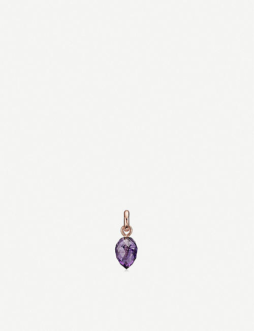 MONICA VINADER Fifi 18ct rose gold-plated vermeil and amethyst pendant charm