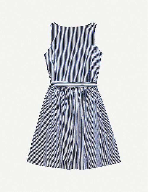 RALPH LAUREN Striped cotton mini wrap dress 2-16 years