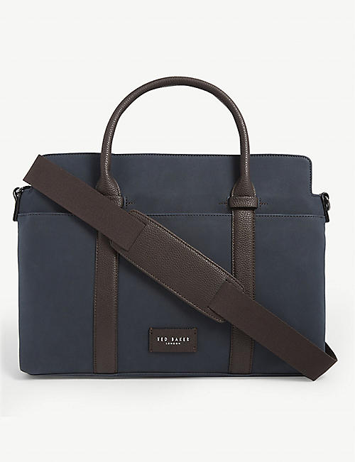 TED BAKER Seller textile document bag