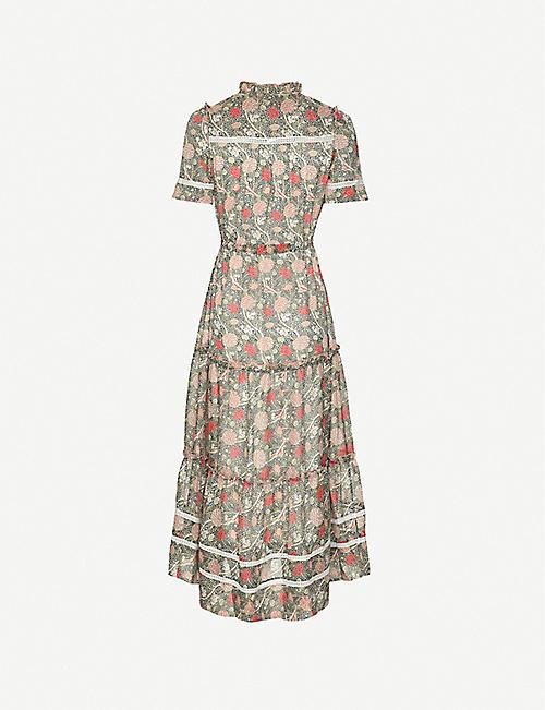 ME AND EM William Morris paisley-print crepe midi dress