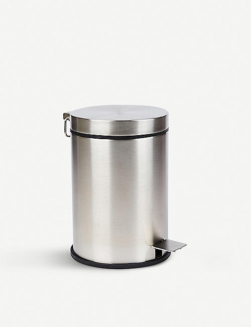 THE CONRAN SHOP Zack Vessa brushed stainless steel pedal bin 3l