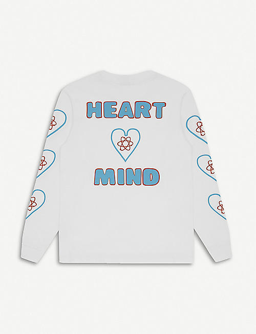 BILLIONAIRE BOYS CLUB Heart & Mind logo-print cotton sweatshirt