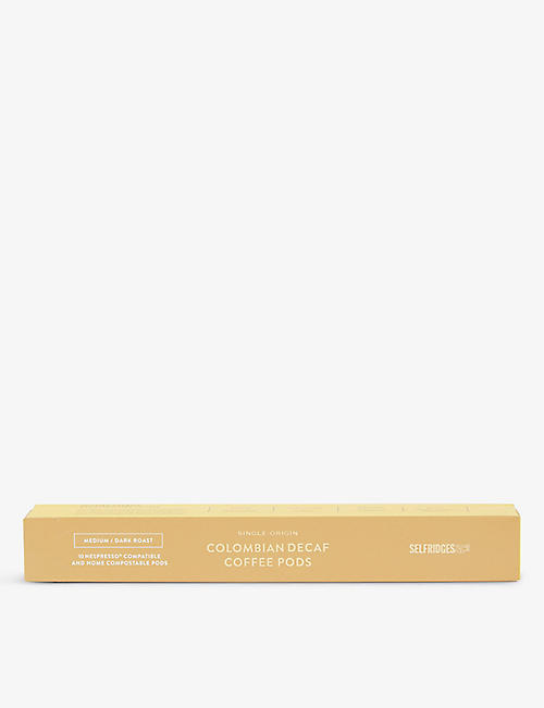 SELFRIDGES SELECTION: Colombian Coffee pods x10 50g