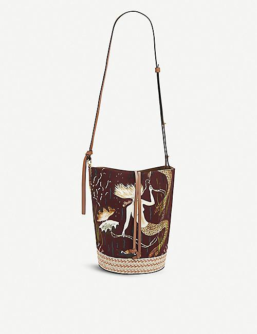 LOEWE Loewe x Paula's Gate leather bucket bag