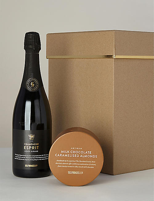 SELFRIDGES SELECTION Champagne and cocoa-dusted almonds gift box