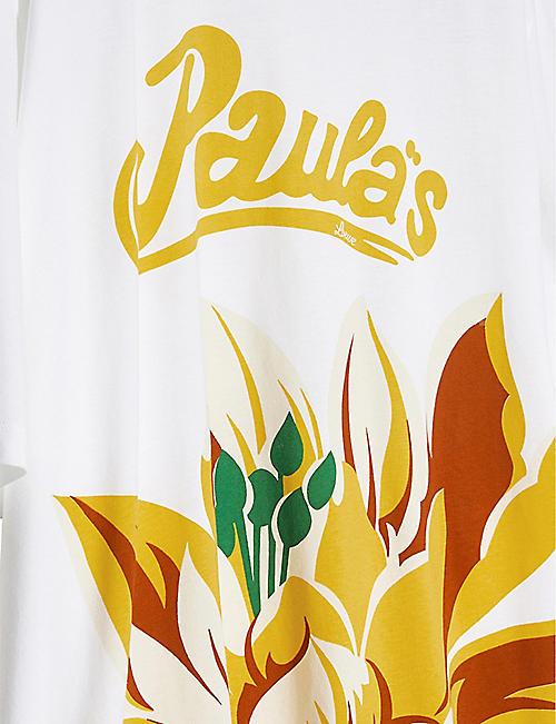 LOEWE Loewe x Paula's waterlily-print cotton T-shirt