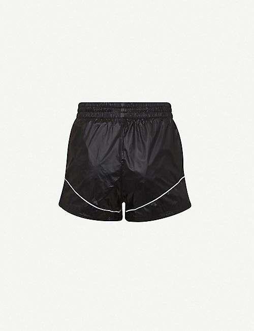 PUMA Evide logo-print high-rise woven shorts
