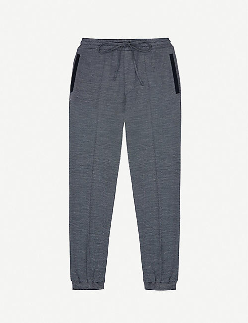 PREVU Cotall colour-blocked knitted jogging bottoms