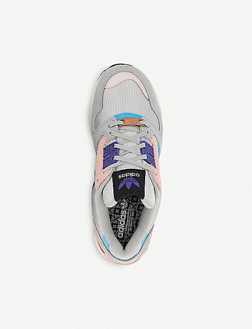 ADIDAS ZX8000 suede and mesh trainers