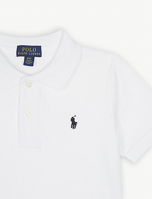 RALPH LAUREN Logo-embroidered cotton polo shirt 6-7 years