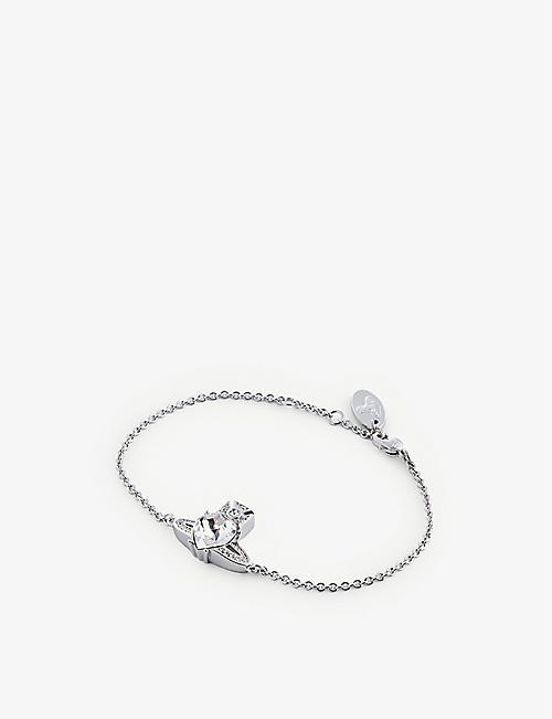 VIVIENNE WESTWOOD JEWELLERY: Ariella rhodium-plated brass and Swarovski crystal bracelet