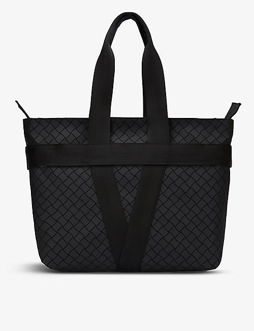 BOTTEGA VENETA: V-motif zipped leather tote bag