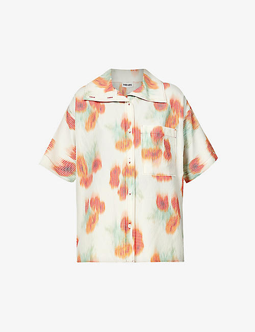 KENZO: Floral-print woven shirt