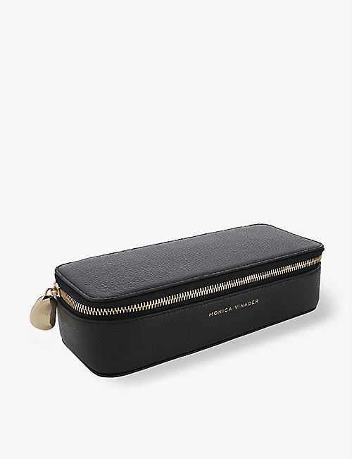 MONICA VINADER: Zipped large leather trinket box