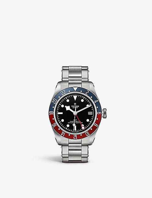 TUDOR: M79830RB-0001 Black Bay GMT 41mm stainless steel automatic watch