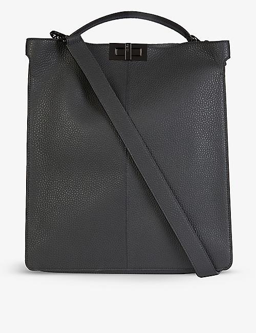 FENDI: Peekaboo leather tote bag