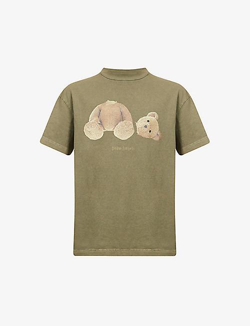 PALM ANGELS: Bear-print cotton-jersey T-shirt
