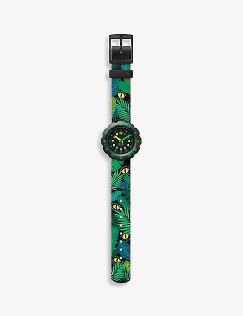 FLIK FLAK: Eye See U bio sourced-plastic and recycled-PET quartz watch