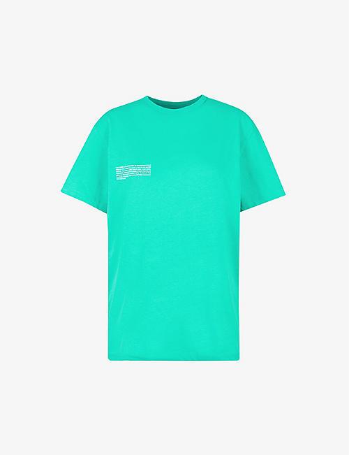 PANGAIA: Text-print organic-cotton T-shirt