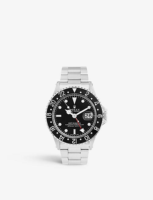 BUCHERER CERTIFIED PRE OWNED: Pre-loved Rolex 1675 Oyster Perpetual stainless-steel automatic watch