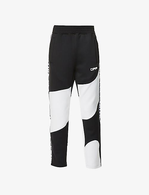 OFF-WHITE C/O VIRGIL ABLOH: Active logo-print jersey jogging bottoms