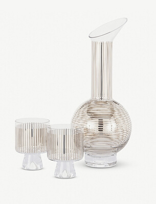 Tom Dixon glass jug and glasses
