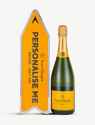 Veuve Clicquot champagne personalised tin