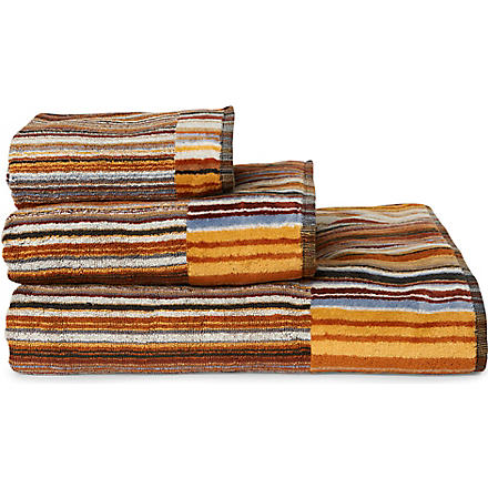 MISSONI HOME Jazz towels brown