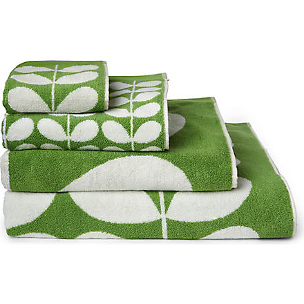 ORLA KIELY Stem jacquard towels apple