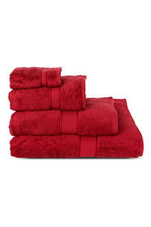SHERIDAN Luxury Egyptian scarlet towels