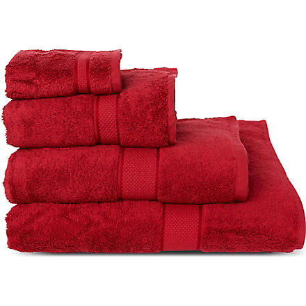 SHERIDAN Luxury Egyptian scarlet towels