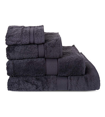 SHERIDAN Luxury Egyptian graphite towels